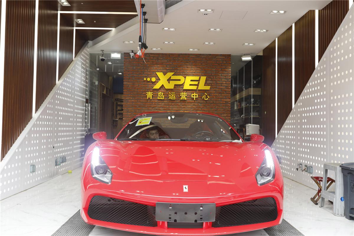 法拉利488装贴XPEL-LUX PLUS隐形车衣透明膜